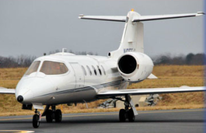 Lear Jet 31A on runway