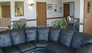 The interior lobby at Venture Jets