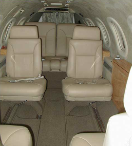 Interior of Lear Jet 31