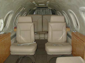 Interior of the Lear Jet 31