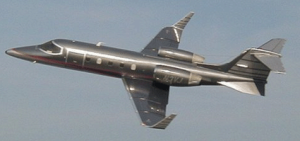 Lear Jet 31A in flight