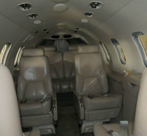 Interior of the Lear Jet 31A